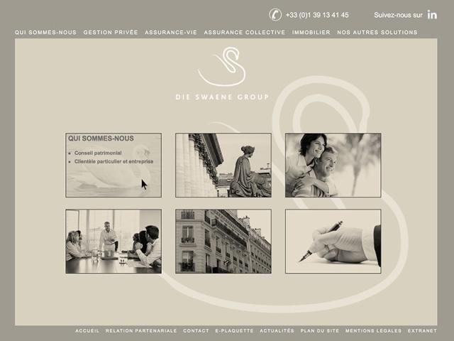 Site web réalisé avec les langages html, CSS et javascript