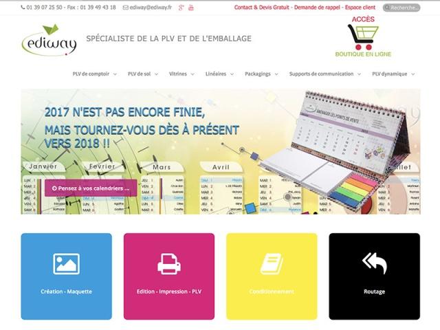 Site web portfolio de PLV réalisé avec le CMS Joomla