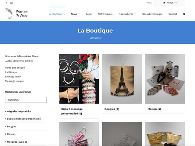 Site web e-commerce réalisé avec le CMS Wordpress