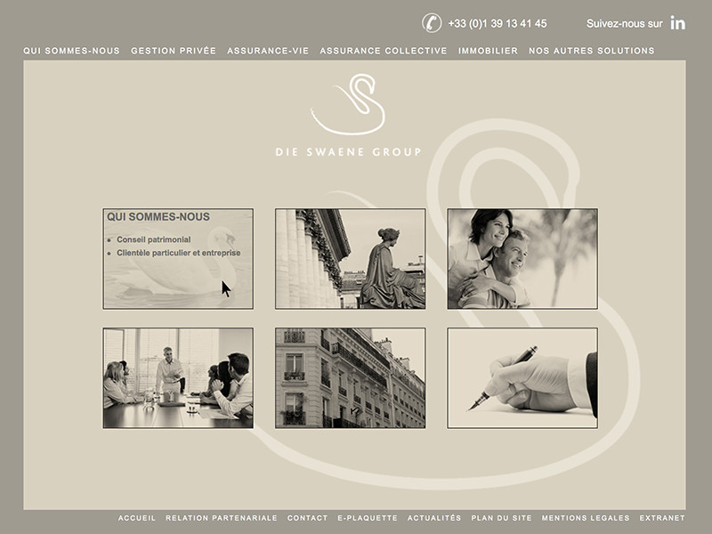 Site web de Die Swaene Group