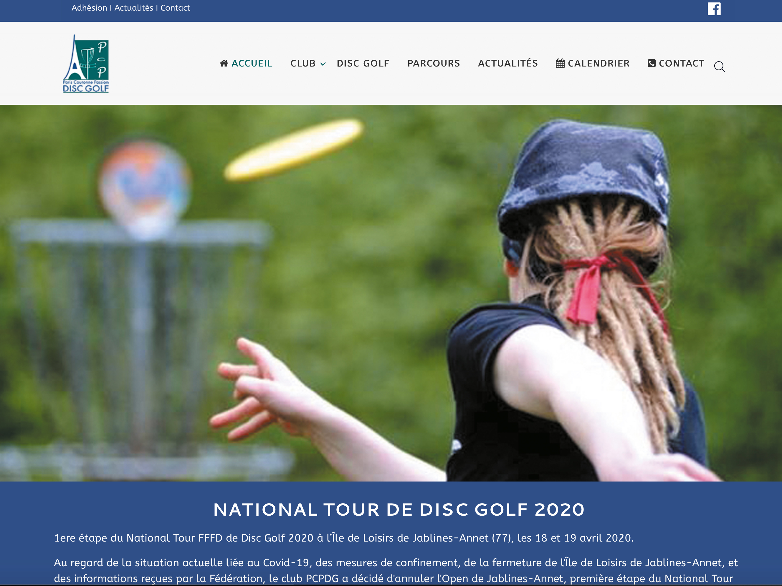 Site web du club Paris Couronne Passion Disc Golf